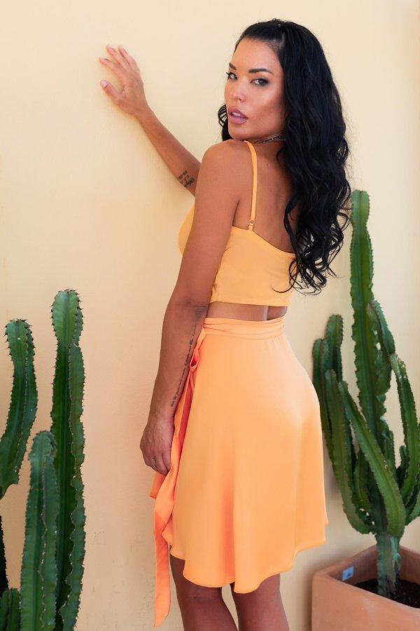 ΝΕΕΣ ΑΦΙΞΕΙΣ May Queen φούστα πορτοκαλί