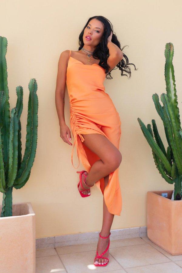 ΜΑΞΙ ΦΟΡΕΜΑΤΑ Stanley φόρεμα πορτοκαλί