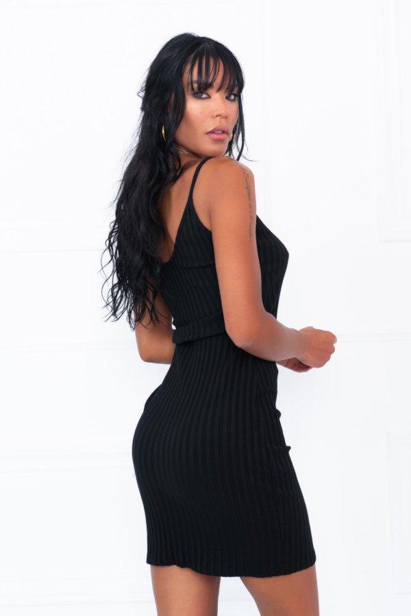SALES Trap φόρεμα μαύρο
