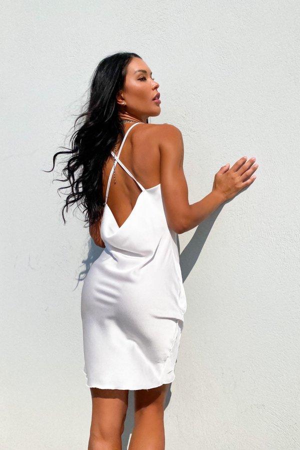Bite φόρεμα λευκό