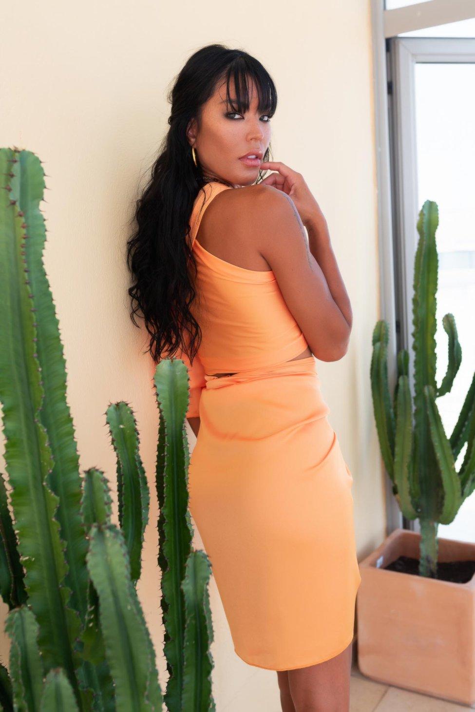 July Queen τοπ πορτοκαλί