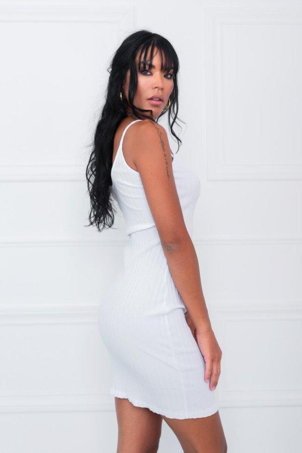 SALES Trap φόρεμα λευκό