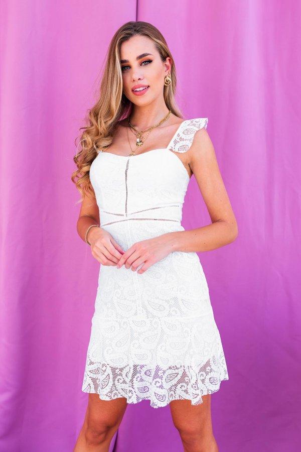 Reign φόρεμα λευκό