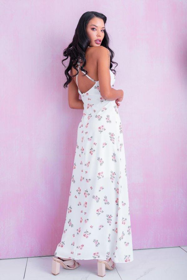 ΜΑΞΙ ΦΟΡΕΜΑΤΑ Lemon φόρεμα λευκό