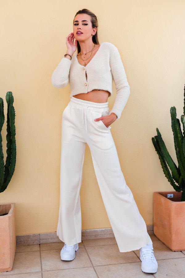 Quaker φούτερ παντελόνι off white