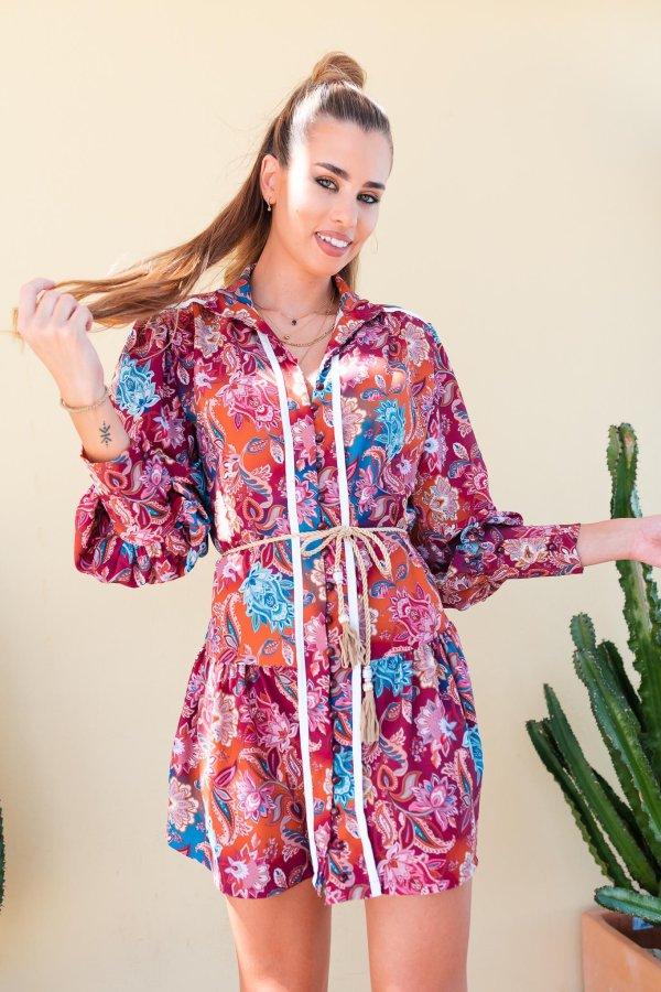 ΦΟΡΕΜΑΤΑ SALES Cicia φόρεμα μπορντό