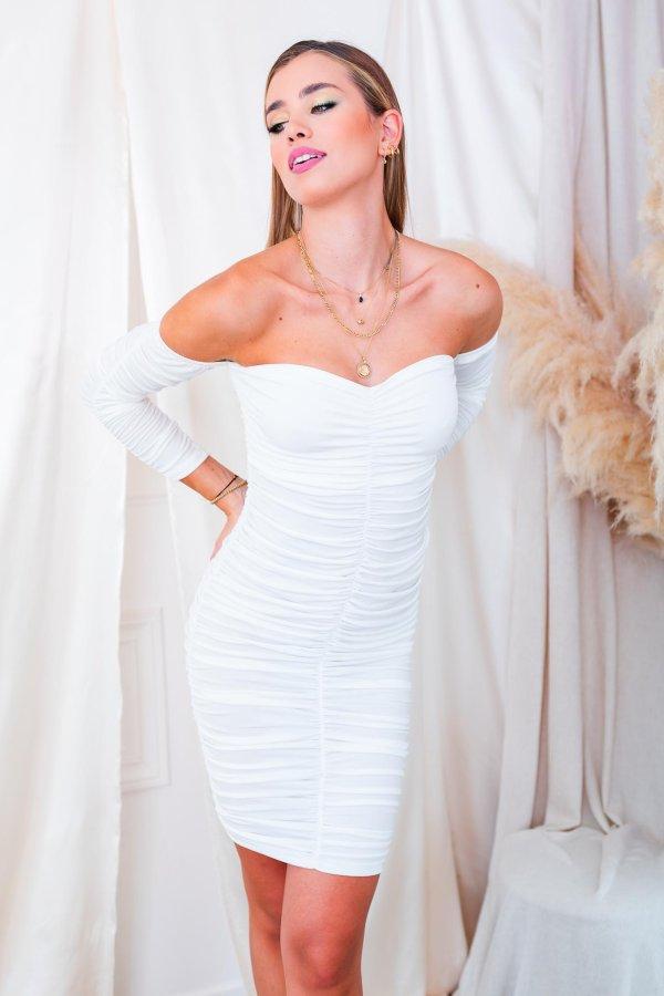 ΒΡΑΔΙΝΑ ΦΟΡΕΜΑΤΑ Majuro φόρεμα λευκό