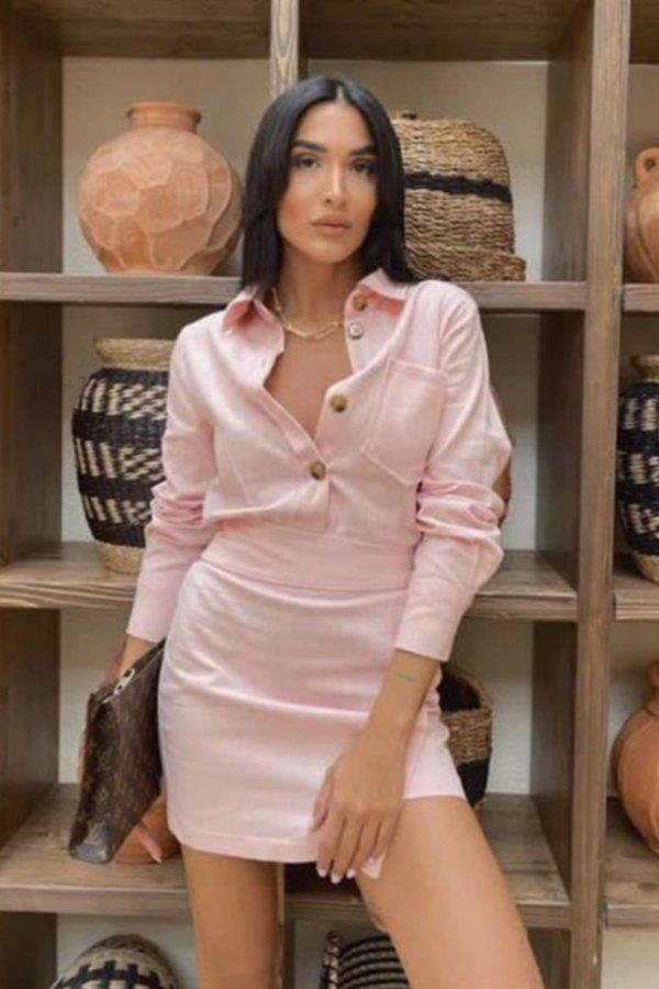 ΦΟΡΕΜΑΤΑ SALES Skilled φόρεμα ροζ