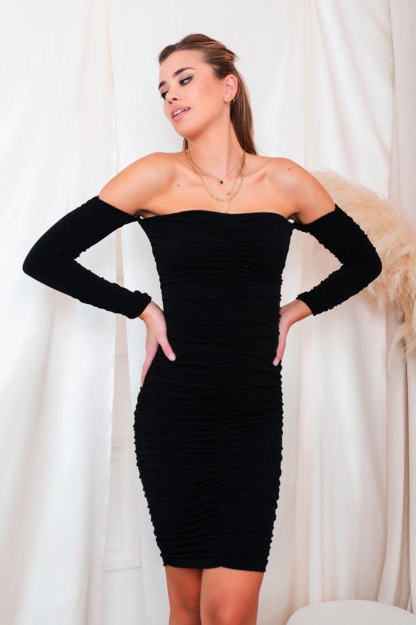 ΒΡΑΔΙΝΑ ΦΟΡΕΜΑΤΑ Majuro φόρεμα μαύρο
