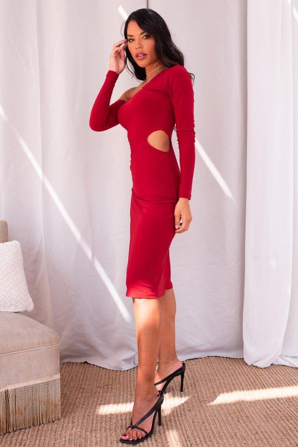 ΜΙΝΤΙ ΦΟΡΕΜΑΤΑ Firewarks φόρεμα κόκκινο