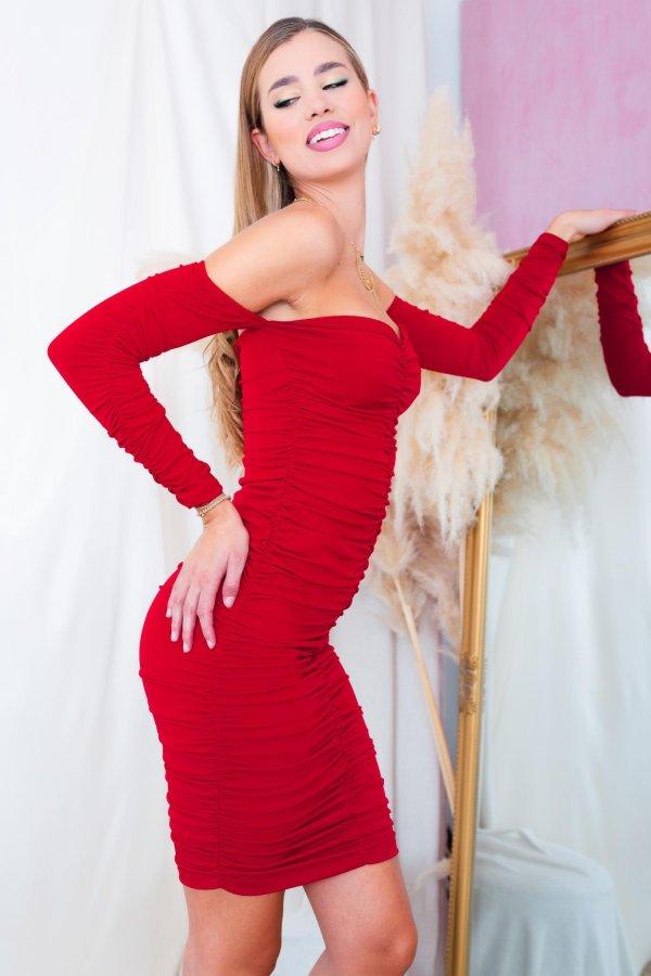 ΒΡΑΔΙΝΑ ΦΟΡΕΜΑΤΑ Majuro φόρεμα κόκκινο
