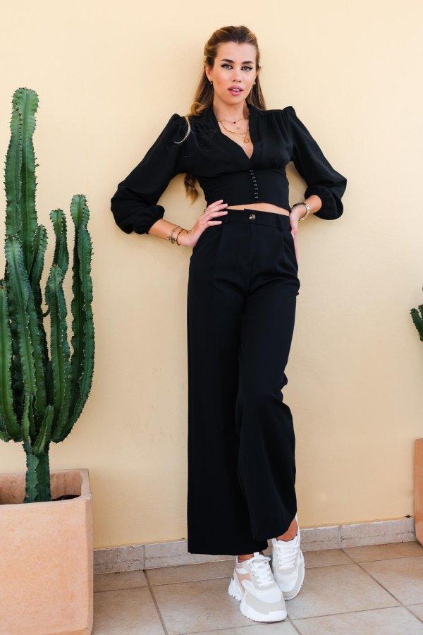 Petite Fleur παντελόνι μαύρο