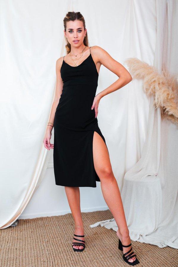 SALES WINTER Kerrera φόρεμα μαύρο