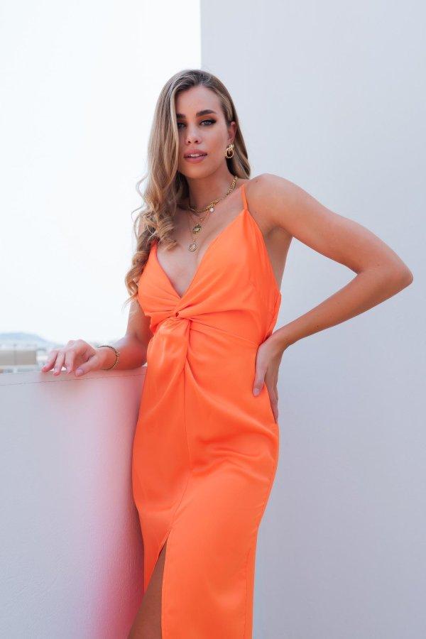 ΜΑΞΙ ΦΟΡΕΜΑΤΑ Wander φόρεμα πορτοκαλί