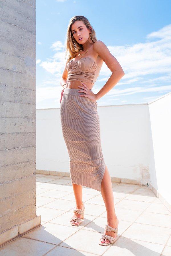 ΦΟΥΣΤΕΣ Sand Cay ριπ φούστα μπεζ
