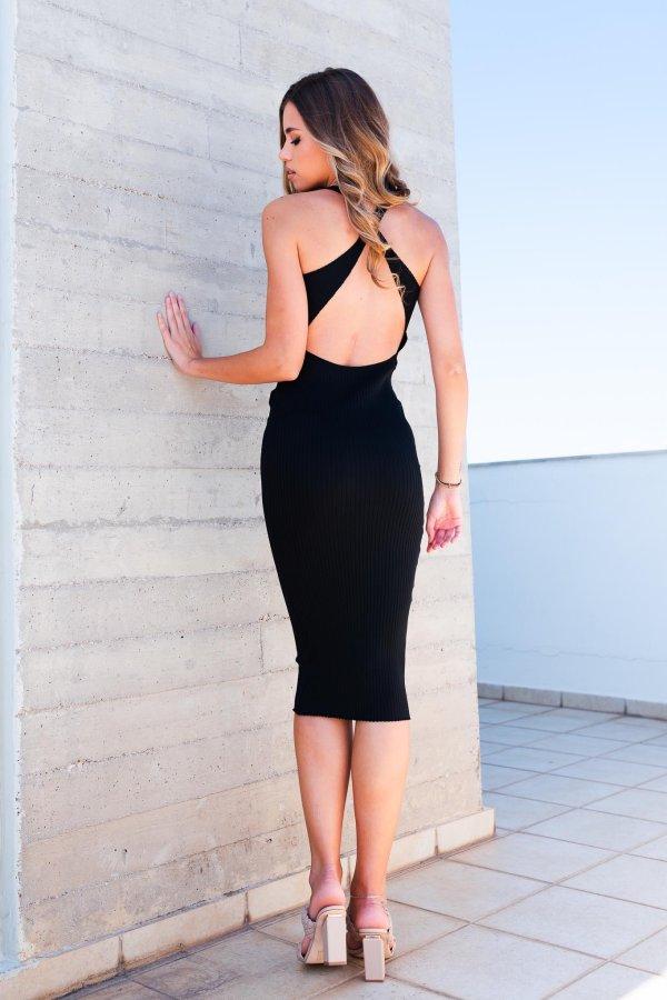 ΜΙΝΤΙ ΦΟΡΕΜΑΤΑ Merig ριπ φόρεμα μαύρο