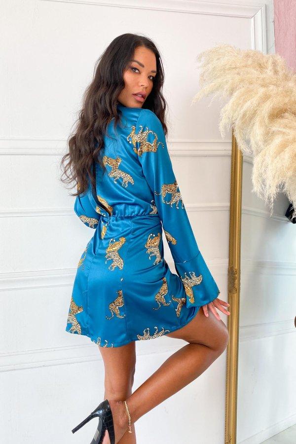 ΦΟΡΕΜΑΤΑ Aniela φόρεμα πετρόλ