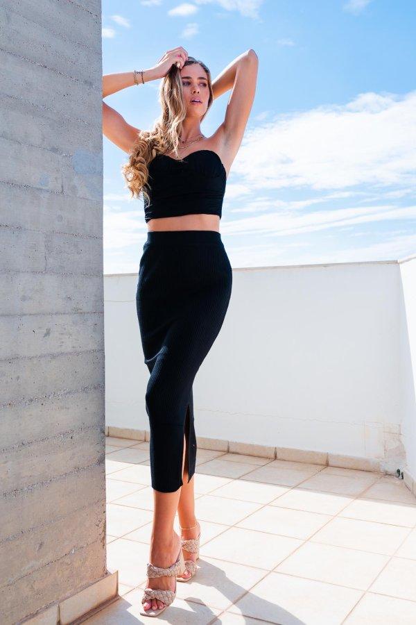 ΦΟΥΣΤΕΣ Sand Cay ριπ φούστα μαύρο