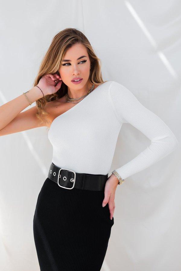 ΜΠΛΟΥΖΕΣ Teaspoon ριπ μπλούζα λευκό