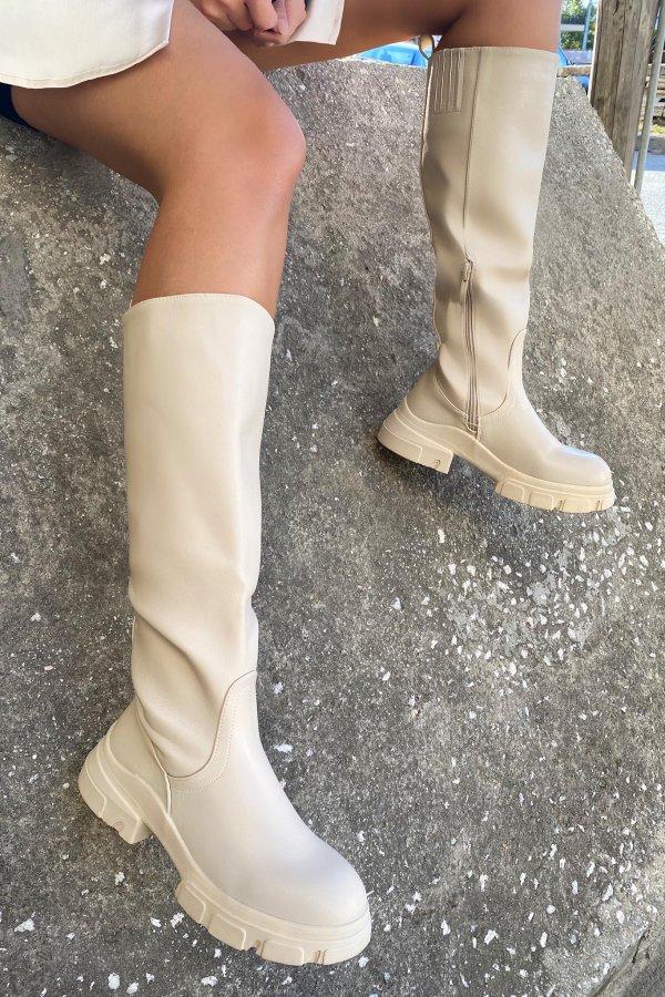 ΠΑΠΟΥΤΣΙΑ Delta μπότες μπεζ