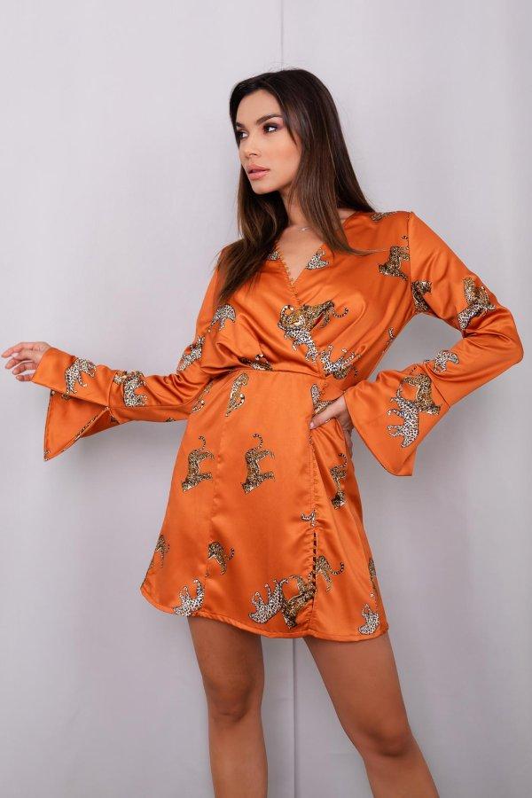 ΦΟΡΕΜΑΤΑ Aniela φόρεμα πορτοκαλί