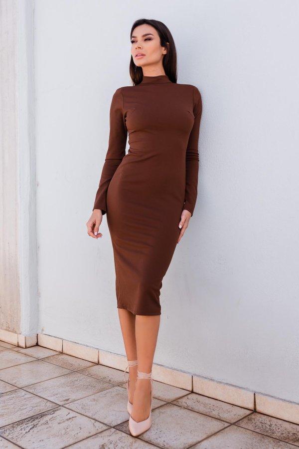 ΜΙΝΤΙ ΦΟΡΕΜΑΤΑ Liberty φόρεμα καφέ